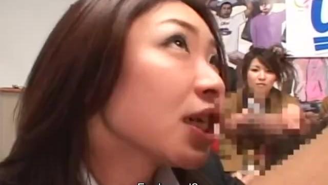Japanese game show blowjob demonstration cumshot Riri Kouda