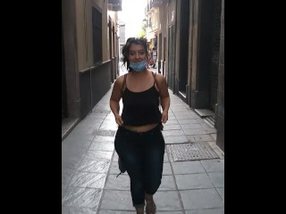(Risky Public) Hot Girl Flashing TITS in the Street!!!