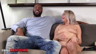 Cute Cheating Whore Housewife Gets Mega Surprise & Fucked By Big Black Cock