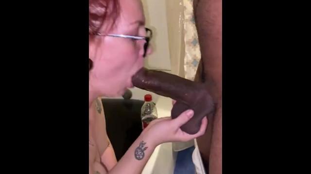 White Girl Sucks Black Dick