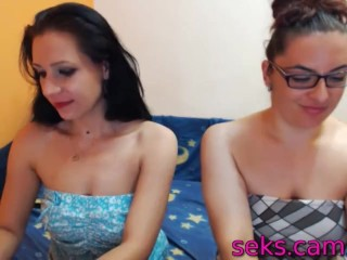 Amateur sextape with 2 lesbian babes fingering each other