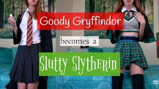 goody gryffindor becomes a slutty slytherin [ginny weasley potion joi] – teen porn