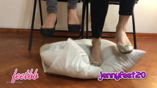 Kylie And Jenny Fast And Hard Stomping On A Pillow Trailer