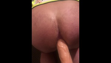 Dildo training – bend over and see how much he could take. The Blackpool Playroom, The Cell and The