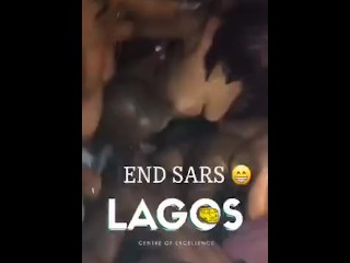 Naija guy having a good time with many strippers in lagos clun