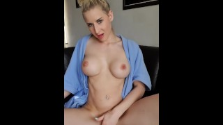 Horny monday. Fucking my pussy with realistic toy