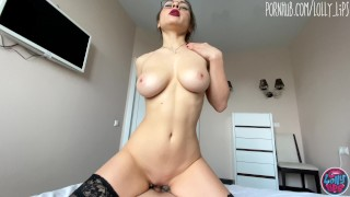 pretty stepsister with big tits seduced me with her red lips