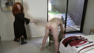 MsREDstripe the disciplinarian canes older ass good and hard