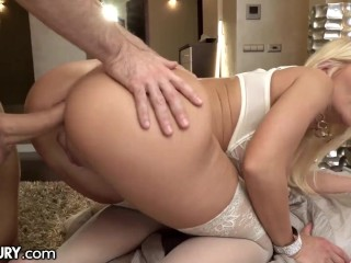 21Sextury Hot Blonde With Big Tits Enjoys Getting Her Ass Drilled Hard