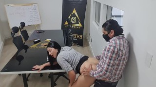 Screen Capture of Video Titled: after my work meeting I need a good FUCK from my coworker, he needs to know who is the boss here