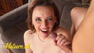MatureNL Naughty Brunette MILF Pounded By a Big Dick POV Style