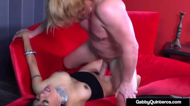Moaning Mexican Milf Gabby Quinteros Face Fucked By Big Dick