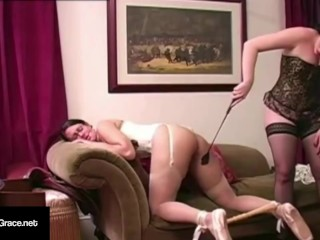 Slapping Slut Samantha Grace Smacks Ballerina Penny Barber!