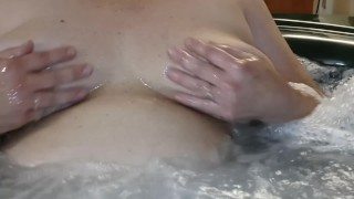 Jenna In The Hot Tub