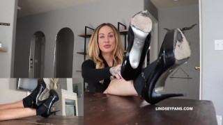 MILF teacher gives you a lesson with feet JOI