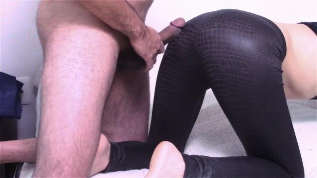 Porn leggings cum on Cum on