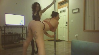 Charlie the dominatrix gives Opal a spanking ( a silent film)