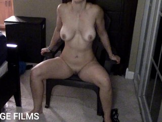 Hot MILF tells dirty story and makes husband jerk off on her. Dirty talk with iPLEDGE