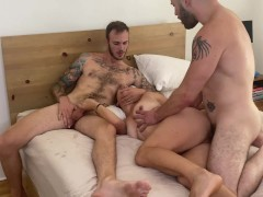 Wolf Hudson in Bisexual MMF with Real Life Couple Bella Wilde & Christian Wilde