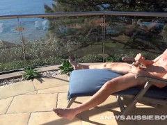 Aussie Nick Shoots His Load Of Daily Cum In Public On His Home Balcony
