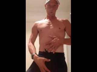 Australian jock getting down and dirty