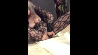 Hot Horny Milf Long Hair Gilf Glasses Latex Glove FTV Vaginal Fisting Herself