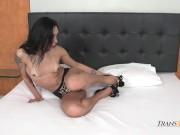 Hannah Rios Jerks off Her TS Cock Natalie Mars