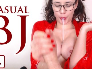 Casual Blowjob & Cum Play!   Sexy Satyrday Show #007!