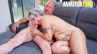 HausfrauFicken - Chubby German Granny Fucked Hard In Her Fat Pussy By Horny Husband