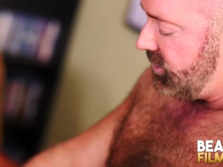 BEARFILMS Daddy Bear Brad Kalvo Fucks Hairy Hunk Bareback