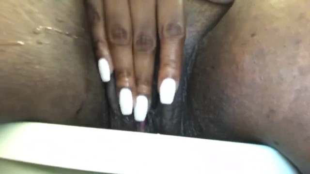 Playing Black Hairy Pussy
