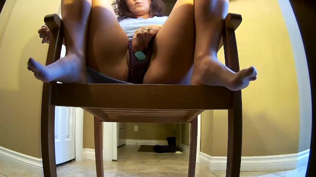 Hidden Camera Catches Wife using Clit Vibrator