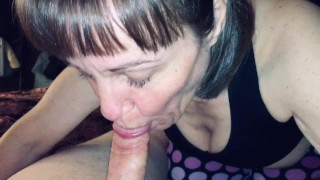 Granny love's to suck cock and swallow every drop