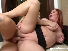 Bossy Cougar Squirting for Halloween
