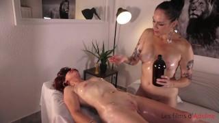 Lesbian massage with Juliette