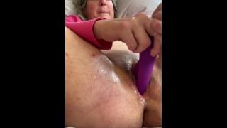 Senior Wife 60 Years Old Closeup Pussy Play Creamy Female Cum