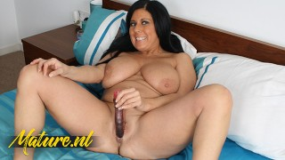 Huge Natural Tits MILF Penetrates her Tight Pussy With her Favorite Toy