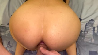 Very tight anal orgasm - Buttplug and fuck