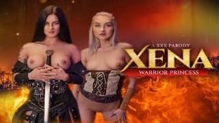 WARRIOR PRINCESSES Xena and Gabrielle Taking Prison Guard For Threesome