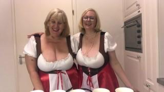 Oktoberfest - 2 busty topless blondes