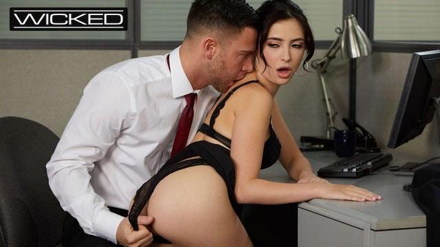 Office Slut Jane Wilde Fucked & Facialed On Cubicle Desk - Wicked