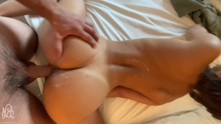 Covered In Cum And Fucked Into A Quivering Orgasm (Big Cumshot) - Amateur NoFaceGirl