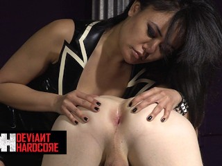 DeviantHardcore - Chad Gets His Ass Fucked By His Mistress Annie Cruz With A Huge Strap On Dildo