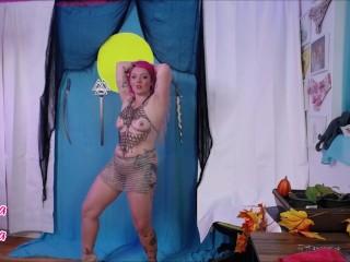 Corrina Karma Strip Tease Sword Swallowing