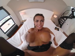 VR BANGERS Curvy Slovak Babe With Huge Tits Makes Sure You Will Be Satisfied VR Porn