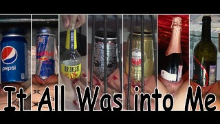 Compilation. Bottle, soda and beer can insertion.