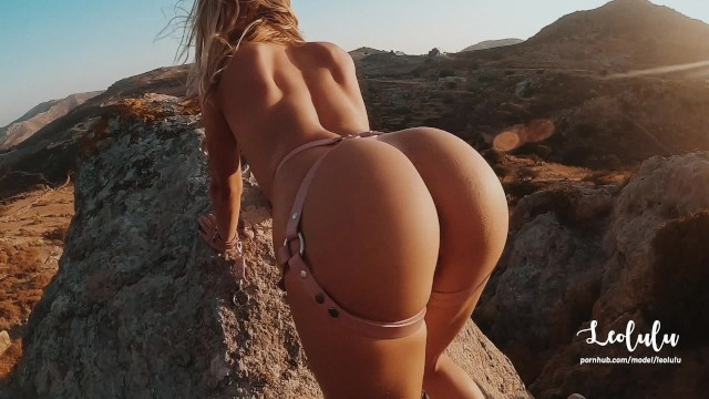 We climbed off-road to tie her up and fuck hard outdoor! Amateur Couple LeoLulu