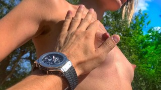 Amateur sex in a public place from young verified couple