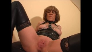 Fetish Granny Rita sucks your cock and offers her tight old pussy. In the end you get a foot job.
