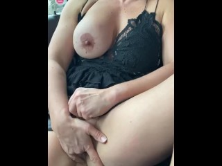 Busty milf playing with herself for future lover!